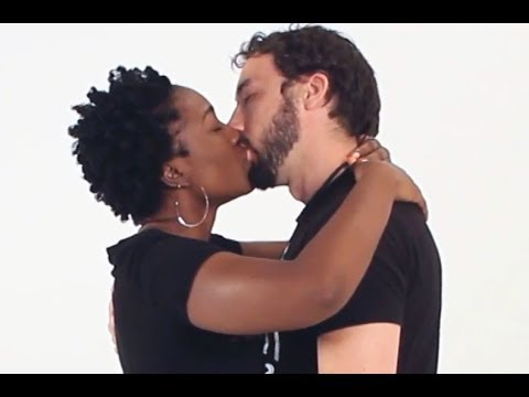 guy kissing Black girl white
