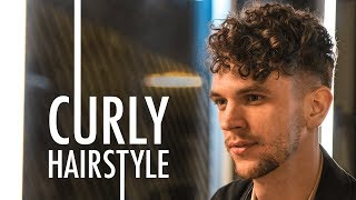 Men's Short Curly Hairstyle for Summer