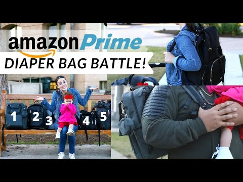BEST DIAPER BAG For A NEW MOM- REVIEWING AMAZON DIAPER BACKPACKS | DAD BABY BAG
