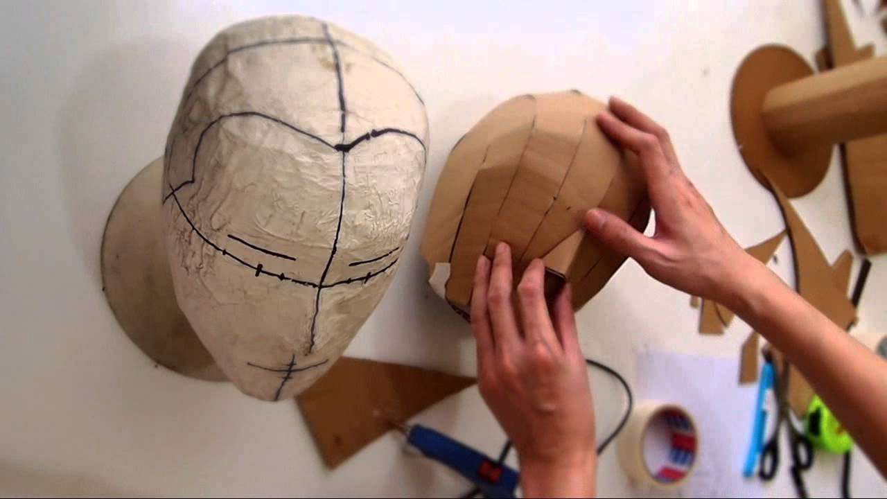 How to make Cardboard Head Form - with free template (size S, M, L) |  Costume Prop DIY