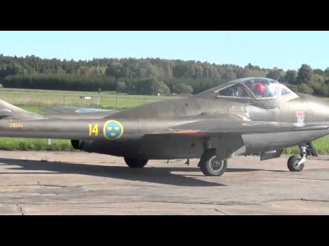 J28 Vampire Västerås Aviation Museum