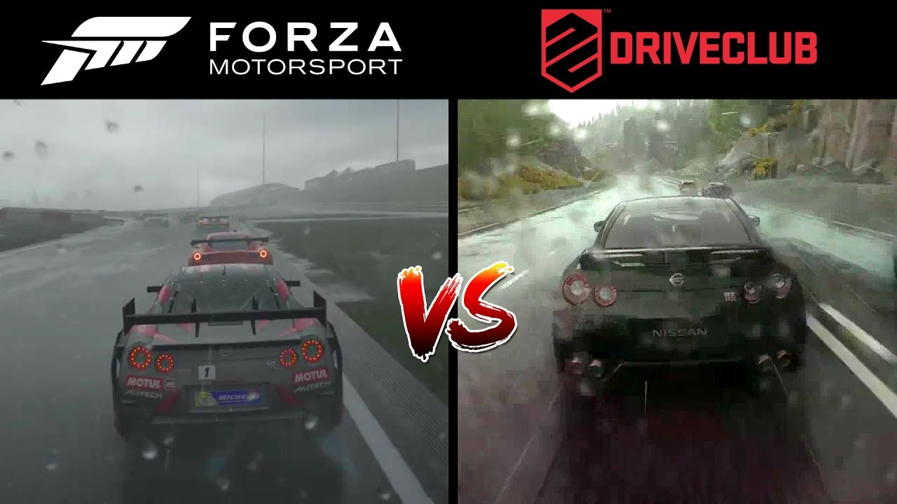 forza 7 vs driveclub ps4 graphics comparison l rain youtube. Black Bedroom Furniture Sets. Home Design Ideas