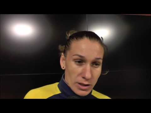 Laura Rus after Romania - Portugal on 25.10.2016