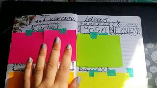 Weight Loss Bullet Journal Flip Through