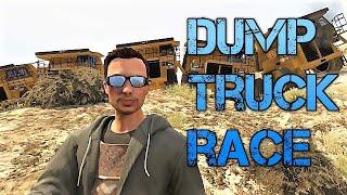 GTA 5 Online Dump Truck Race Down Mt Chiliad