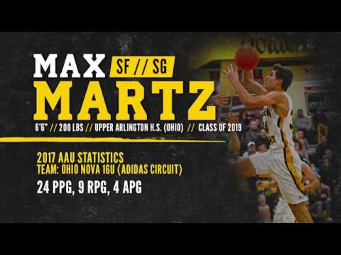 "BASKETBALL RECRUIT: Max Martz - SF/SG, 6'6"" (Upper Arlington High School - Class of 2019)"