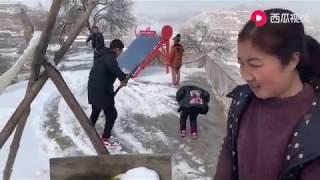 【湘妹小北】甘肅下雪後的農村,跟你相愛的人一起,你願意住幾年