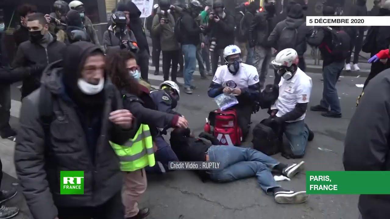 Paris Les Tensions Lors De La Manifestation Contre La Loi Securite Globale Se Poursuivent Youtube