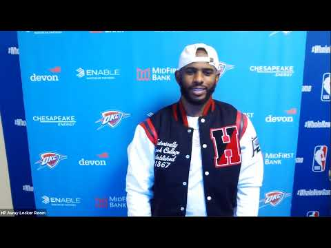 Chris Paul Postgame Interview   Thunder vs Lakers   August 5, 2020