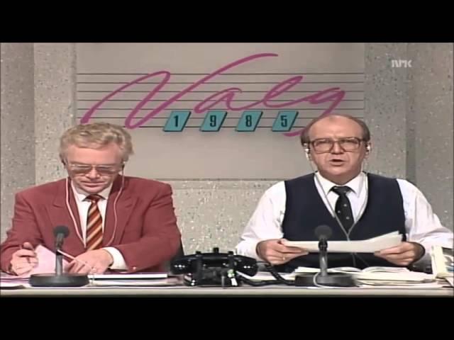 Stortingsvalget 1985 - Valgnatt