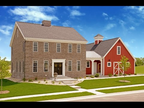 New england colonial style home middleton wi youtube for New england colonial style