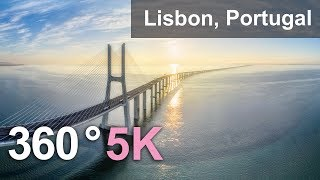 360°, Lisbon, Portugal, 5K aerial video