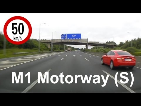 Dash Cam Ireland  - M1 Motorway from Lissenhall to Whitehall, Dublin