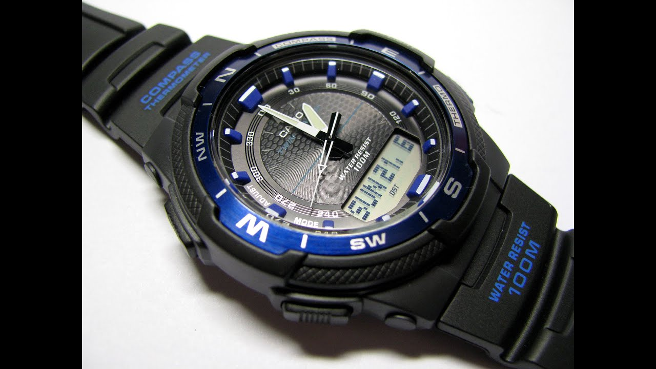808a3678f839 Casio SGW-500H Analog Digital Compass Thermometer Multi Function Watch