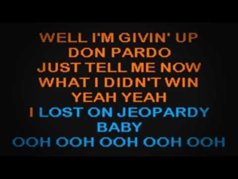 SC2220 08   Yankovic, 'Weird Al'   I Lost On Jeopardy [karaoke]