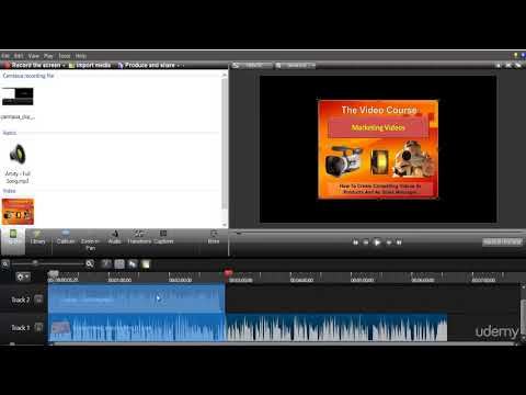 Web Video Editing and Production (Camtasia, PPT, Audacity) : Camtasia - Edit a project