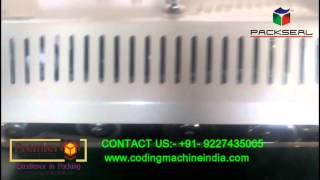 CONTINOUS BAND SEALER WITH BATCH CODING, BATCH PRINTING MACHINE , PACKING MACHINE