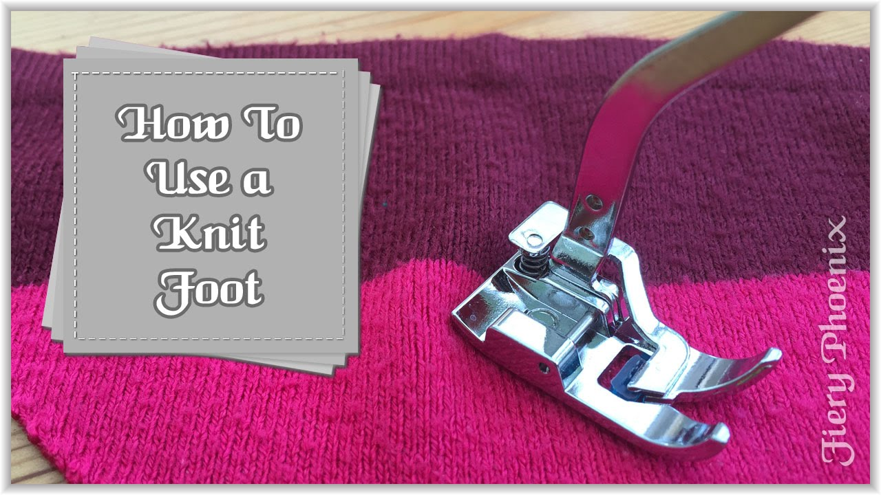 How to sew knitwear