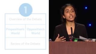 World Schools Reply Speech