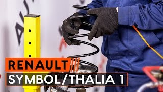 How to replace Suspension springs RENAULT THALIA I (LB0/1/2_) Tutorial