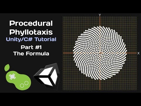 Procedural Phyllotaxis - Unity/C# Tutorial [Part 1 - The Formula]