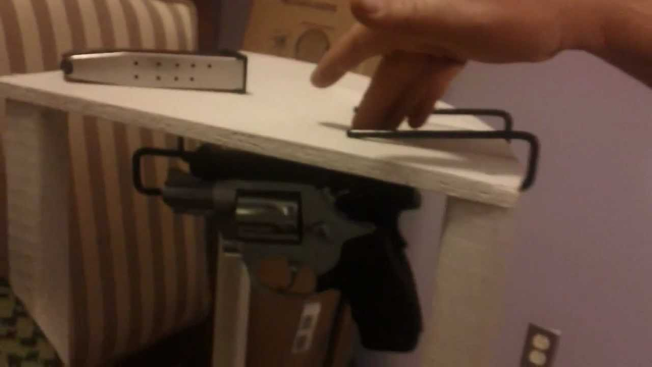 Gun Storage Solutions Zombie Gun Storage Handgun Hangers Youtube