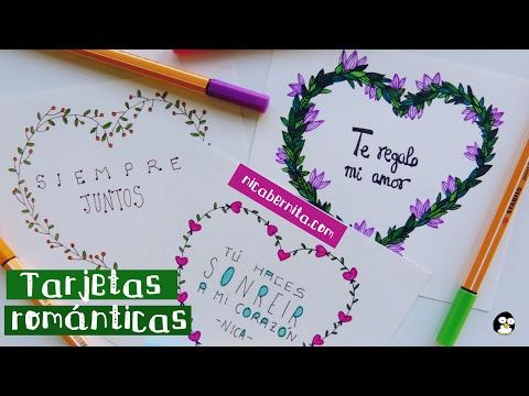 Tarjetas Hechas A Mano Con Frases De Amor 2 Ideas Para Regalar