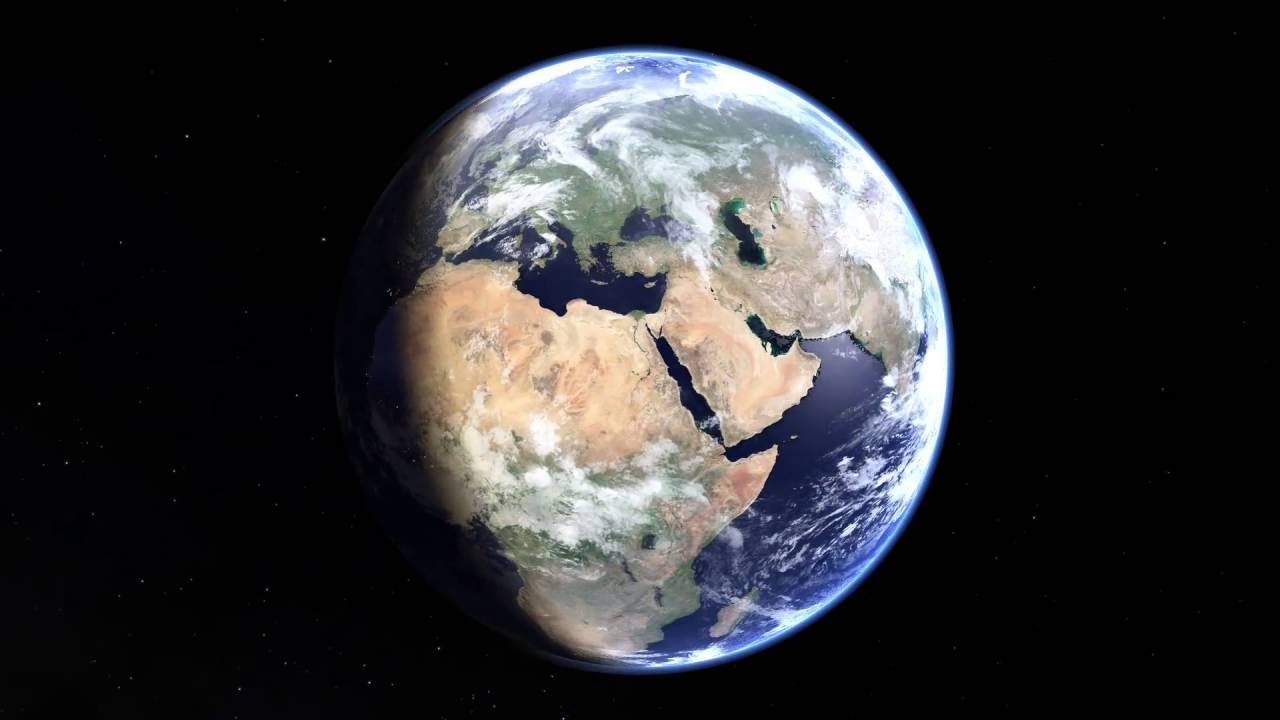 Rotating Earth Animation Stitched From Live Weather Satellite - World weather satellite live