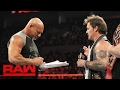 Goldberg Accepts Brock Lesnar's Wrestlemania Challenge: Raw, Feb. 6, 2017 video