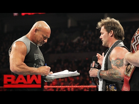 Thumbnail: Goldberg accepts Brock Lesnar's WrestleMania challenge: Raw, Feb. 6, 2017