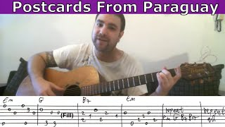 Tutorial: Postcards From Paraguay (Mark Knopfler) - Fingerstyle Guitar w/ TAB