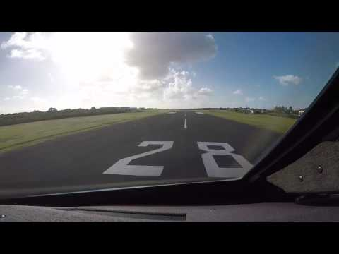 Gulfstream V Landing Anguilla AXA Jan 2017