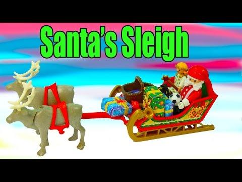 Christmas Playset Playmobil Santa's Sleigh Presents Reindeer Angel Dolls Cookieswirlc Review