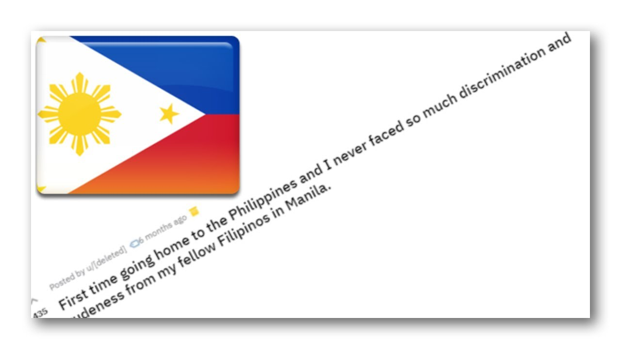 r/Philippines - Do Filipinos discriminate against each other? Reddit Threads