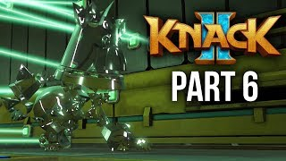KNACK 2 Walkthrough Part 6 - METAL & STEALTH (PS4 Pro 60fps Gameplay)