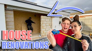 WE'VE STARTED THE RENOVATIONS IN OUR NEW HOUSE!! *FINAL REVEAL*