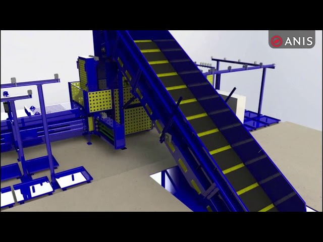 Pre-press Baler with Double Flaps animation