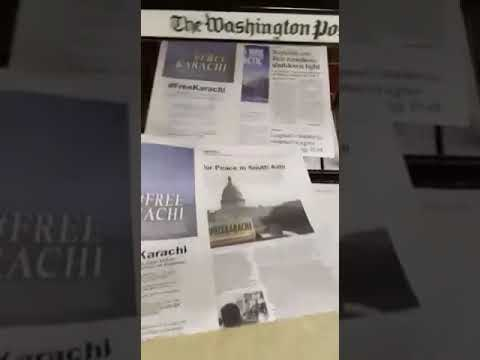 Free Karachi Campaign in Washington Post by MQM