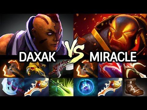 MIRACLE Ember Spirit Full Physical VS DAXAK Anti Mage New Carry NIP 7.24 Dota 2
