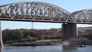Ж/д мост на реке Ока в Серпухове
