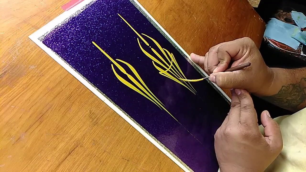 How To Pinstripe Simple Pinstriping Design 4 Youtube