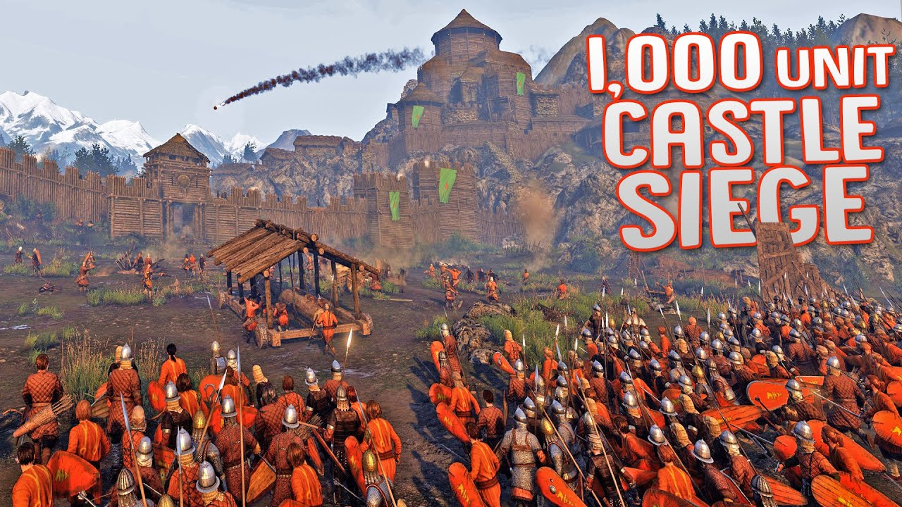 BANNERLORD LARGE-SCALE CASTLE SIEGE BATTLES - Mount & Blade 2 Bannerlord Gameplay
