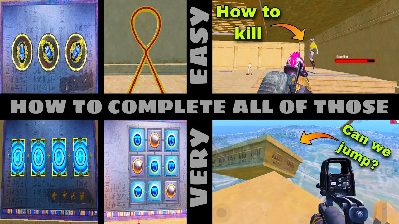 🤯How to complete all games in ancient secret mode and kill new final boss Mummy in PUBG | OP Mrimay
