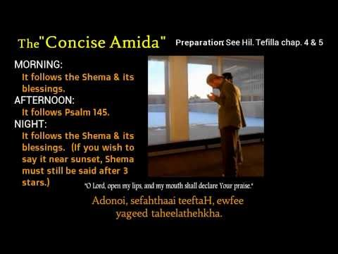 JEWISH PRAYER (Amida: translated & transliterated)