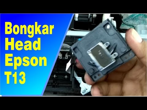 cara melepas head epson t13 | how to remove print head epson t13