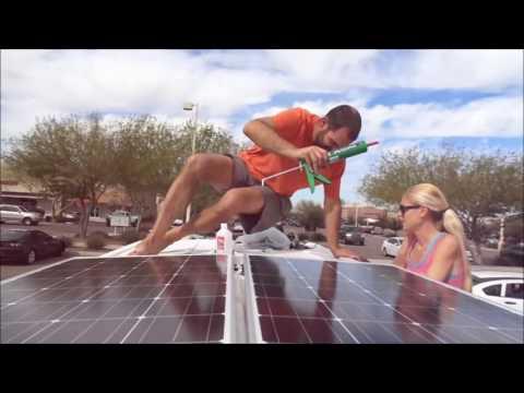 Sprinter Van Conversion in One week   Part 7  Solar installation