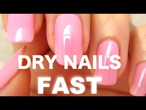 How to dry your nails FAST!!! (1 minute)
