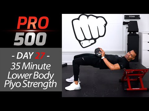 35 Minute At Home Leg Workout (with Plyo Box) PRO 500 Day 27