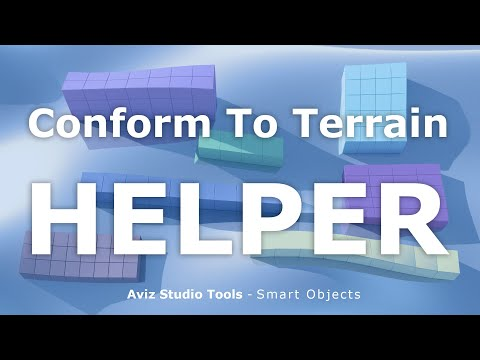Conform To Terrain - Aviz Studio Tools - SMART OBJECTS