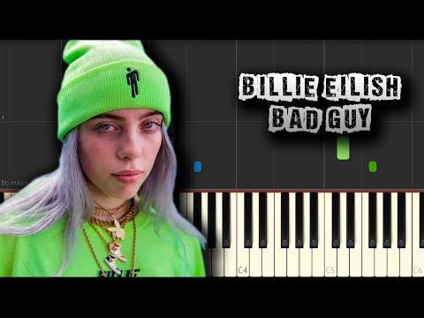 Billie Eilish - Bad Guy - [Piano Tutorial] (Synthesia) (Download MIDI + PDF Scores)